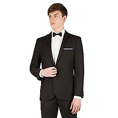 Red Herring - Black plain slim fit 1 button front dress wear suit jacket
