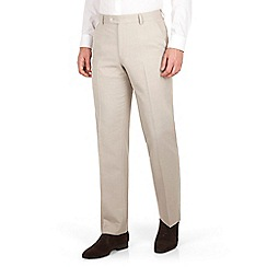 The Collection - Oatmeal linen regular fit suit trouser