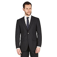 Scott & Taylor - Navy tonal check 2 button front regular fit suit jacket