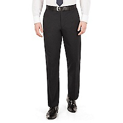 Scott & Taylor - Navy tonal check plain front suit trouser