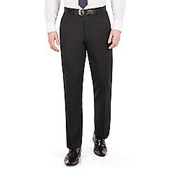 Scott & Taylor - Navy tonal check plain front suit trouser