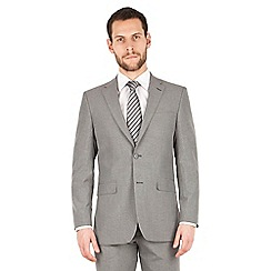Scott & Taylor - Grey puppytooth 2 button front regular fit suit jacket