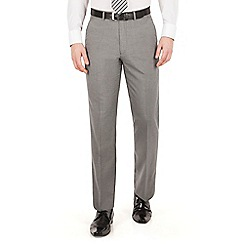 Scott & Taylor - Grey puppytooth plain front regular fit suit trouser