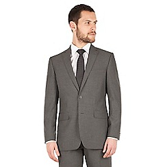 Scott & Taylor - Grey narrow stripe 2 button front regular fit suit jacket