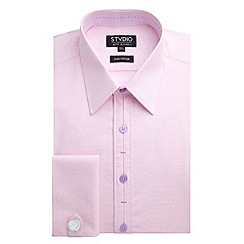 Stvdio by Jeff Banks - Pink Ditsy Floral Jacquard Shirt