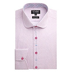 Stvdio by Jeff Banks - Stvdio by Jeff Banks Pink Leaf Print Shirt
