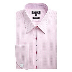 Stvdio by Jeff Banks - Stvdio by Jeff Banks Pink Dot Jacquard Shirt