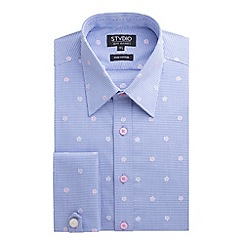 Stvdio by Jeff Banks - Blue Floral Gingham Shirt