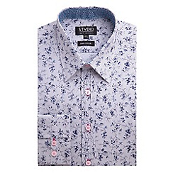 Stvdio by Jeff Banks - Stvdio by Jeff Banks Navy Floral Print Shirt