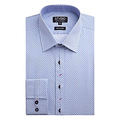 Stvdio by Jeff Banks - Stvdio by Jeff Banks Blue Tile Print Shirt
