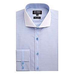 Stvdio by Jeff Banks - Blue Horizontal Stripe Shirt