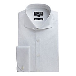 Stvdio by Jeff Banks - White Floral Jacquard Shirt