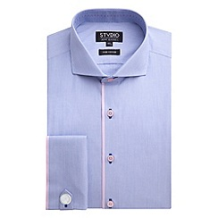 Stvdio by Jeff Banks - Stvdio by Jeff Banks Blue Engineered Stripe Shirt