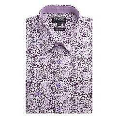 Stvdio by Jeff Banks - Stvdio by Jeff Banks Mulberry Soft Paisley Print Shirt