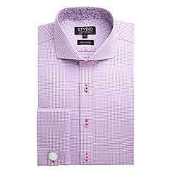Stvdio by Jeff Banks - Lilac Houndstooth Shirt