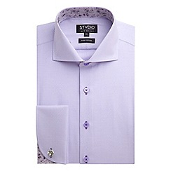 Stvdio by Jeff Banks - Lilac Squares Shirt