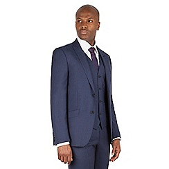 J by Jasper Conran - J by Jasper Conran Blue 2 button front slim fit italian suit jacket