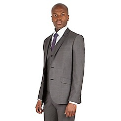 J by Jasper Conran - J by Jasper Conran Charcoal 2 button front slim fit italian suit jacket