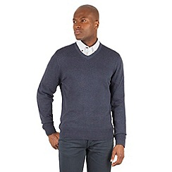 Racing Green - Bancroft V Neck Knitted Jumper