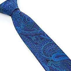 Stvdio by Jeff Banks - Studio by Jeff Banks Blue Intricate Paisley Tie