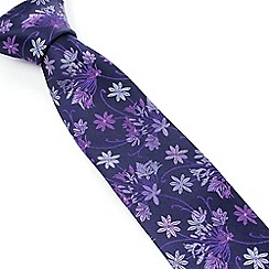 Stvdio by Jeff Banks - Lilac Tonal Bouquet Tie