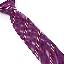 Stvdio by Jeff Banks - Studio by Jeff Banks Magenta Dot Stripe Tie