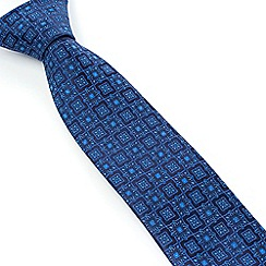 Stvdio by Jeff Banks - Studio by Jeff Banks Blue Floral Tile Tie