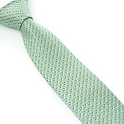 Stvdio by Jeff Banks - Studio by Jeff Banks Light Green Micro Triangles Tie