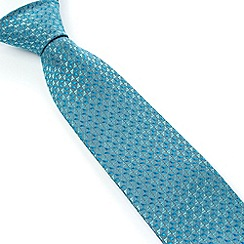 Stvdio by Jeff Banks - Studio by Jeff Banks Aqua Micro Triangles Tie