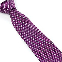 Stvdio by Jeff Banks - Magenta Micro Flower Tie