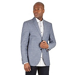 Racing Green - Webster Check Linen Blend Blazer
