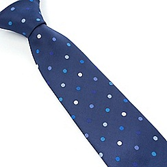 Stvdio by Jeff Banks - Navy Multi Spot Tie