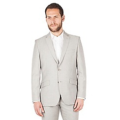 J by Jasper Conran - J by Jasper Conran Taupe 2 button front tailored fit summer suit jacket
