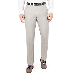 J by Jasper Conran - J by Jasper Conran Taupe plain front tailored fit summer suit trouser