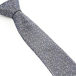 Racing Green - Pierre Herringbone Nep Silk Tie
