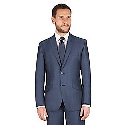 J by Jasper Conran - J by Jasper Conran Dark blue 2 button front tailored fit summer suit jacket
