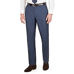 J by Jasper Conran - J by Jasper Conran Dark blue plain front tailored fit summer suit trouser