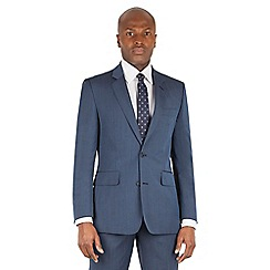 Hammond & Co. by Patrick Grant - Blue plain 2 button front tailored fit st james suit