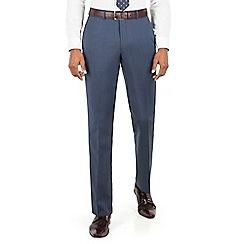 Hammond & Co. by Patrick Grant - Blue plain flat front tailored fit suit trouser