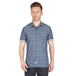 Racing Green - Sack Tile Print Short Sleeve Shirt