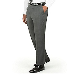 Centaur Big & Tall - Charcoal pindot big and tall suit trousers
