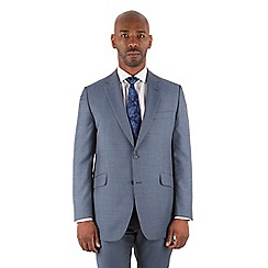 Centaur Big & Tall - Centaur Big & Tall Petrol pick and pick big and tall 2 button front regular fit suit jacket