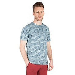 Racing Green - Sherwood Palm Leaf Print T Shirt