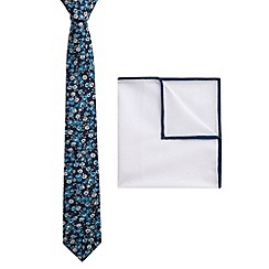 Racing Green - Union Floral Tie and Hankie Set