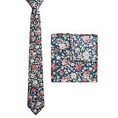 Racing Green - Virtue Rose Tie and Hankie Set