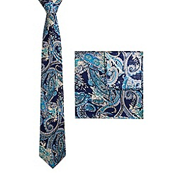 Racing Green - Cupid Paisley Tie and Hankie Set