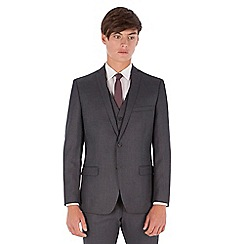 Red Herring - Charcoal textured slim fit 2 button Suit