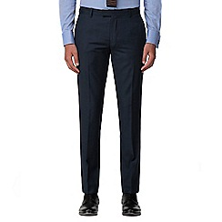 Racing Green - Deep blue pick and pick tailored fit suit trouser