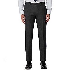 Racing Green - Charcoal pick and pick tailored fit suit trouser