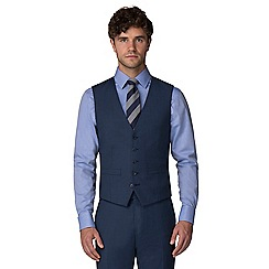 Racing Green - Blue pick and pick waistcoat